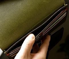 長財布 メンズ 人気のイタリア本革「ミネルバリスシオ」の薄型