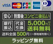取り扱い可能な決済方法 クレジット 代引き 銀行振り込み 後払い