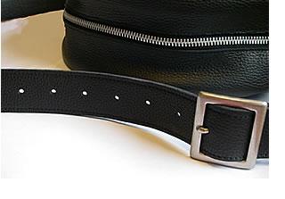 革バッグDrumBag30のベルトの写真