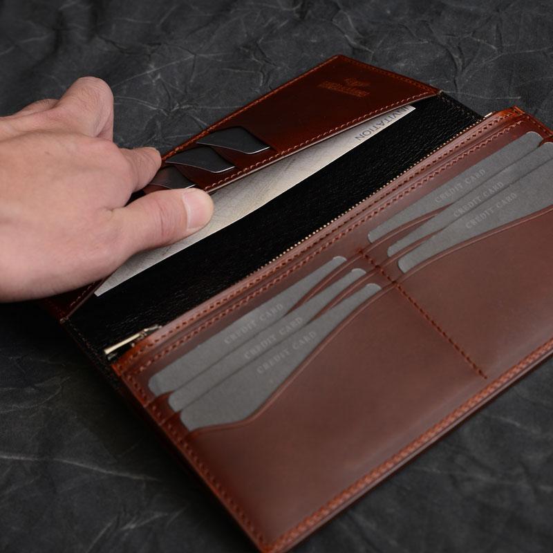革財布のデザインサブポケット