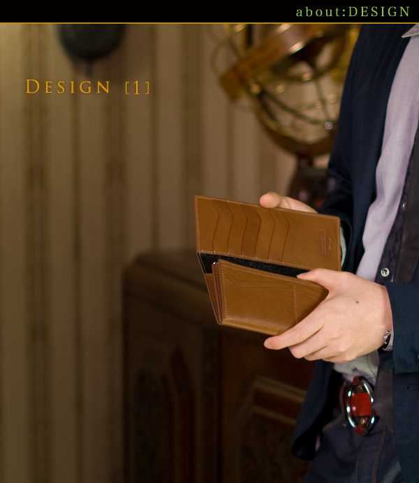 クリエイティブな感性に匠の技を融合した、重厚かつ優美なスタイルの長財布