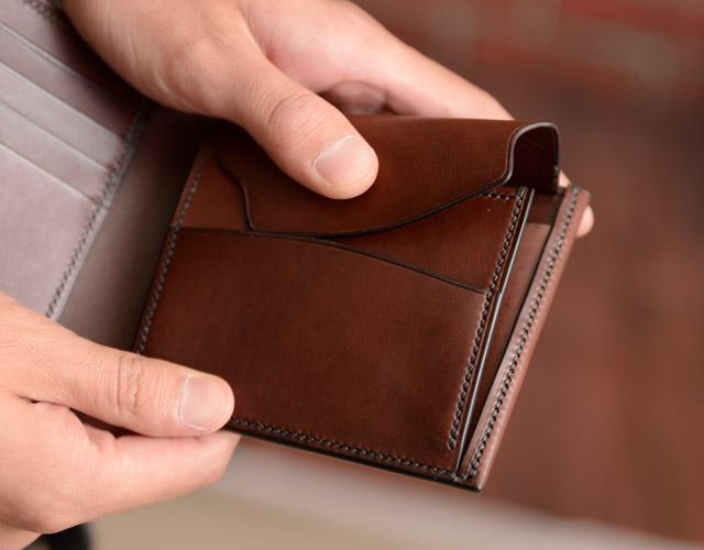 二つ折り財布の小銭入れの様子