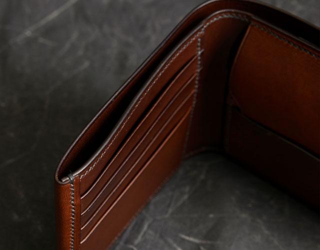 二つ折り財布の札入れを上から見た様子