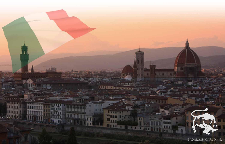 ミネルバリスシオが作られているイタリアトスカーナの街の風景