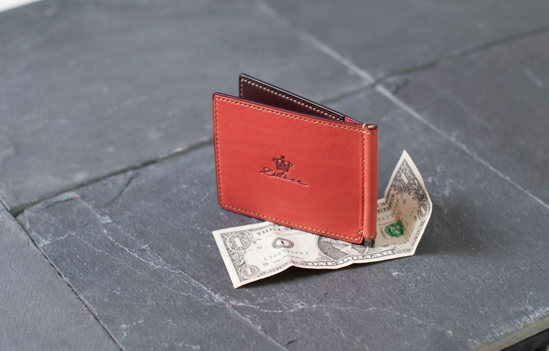 左利き用マネークリップ財布