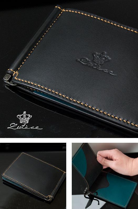 マネークリップ財布(ブラック)ミネルバリスシオ