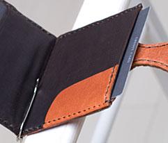 馬革マネークリップのデザイン