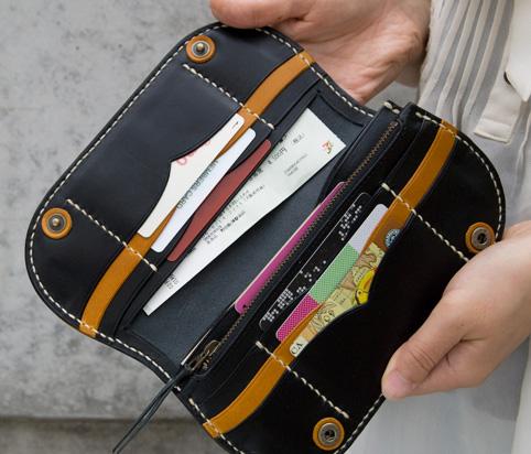 長財布のカードケース