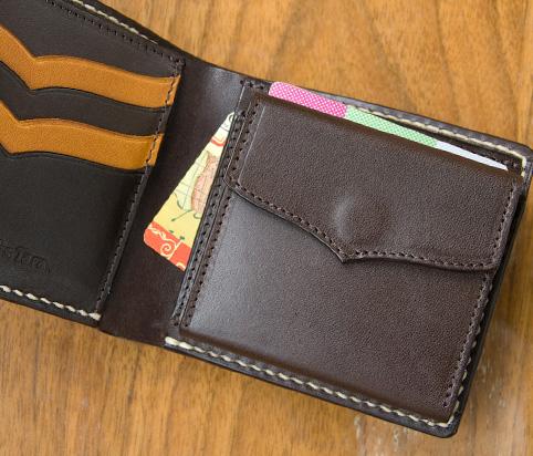 かわいい革製レディース財布のデザイン「コイン収納部」