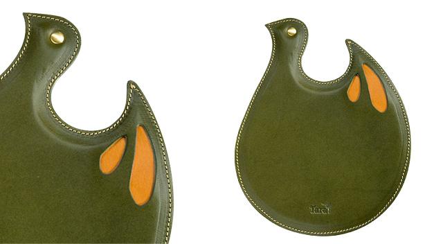 レザーマウスパッド<グリーン・緑>